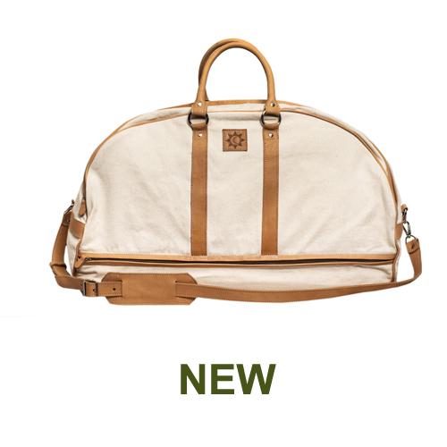 1 PN9170C Travel Bag in canvas & natural leather-en