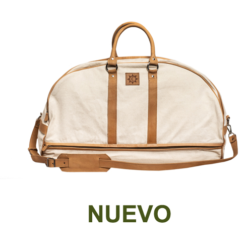 1 PN9170C Travel Bag in canvas & natural leather-es
