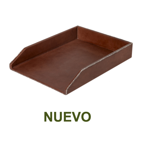 1 PN982D Desk top tray in brown leather-es