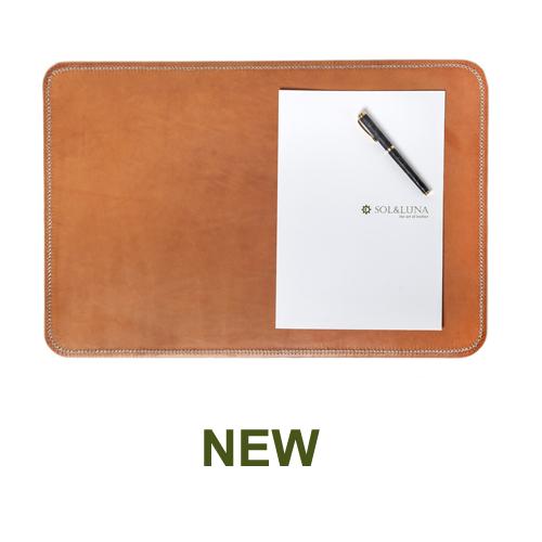 1 PN983C Leather desk mat in natural-en