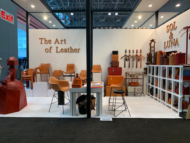 Sol&Luna's booth at ICFF Fair in NY