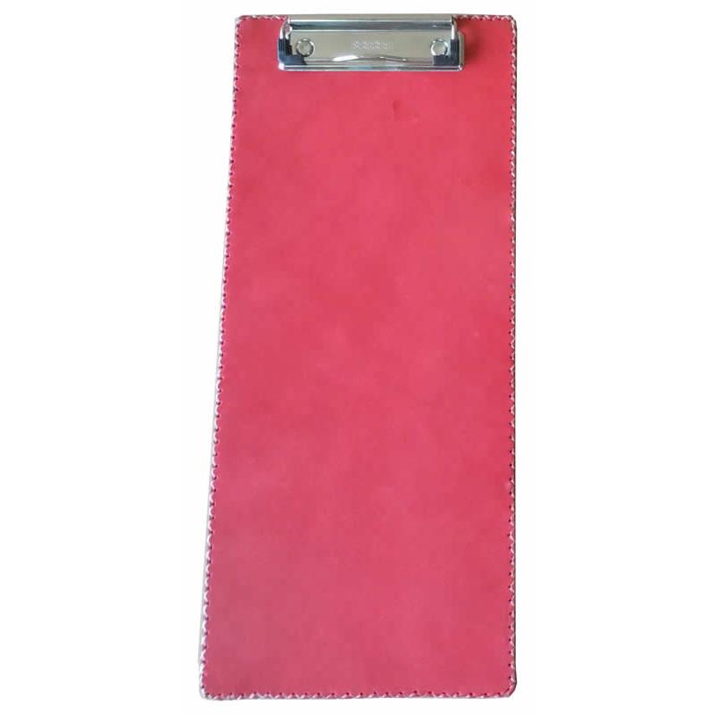 Portafolios largo y estrecho con clip y forrado en cuero rojo PN986 de Sol&Luna