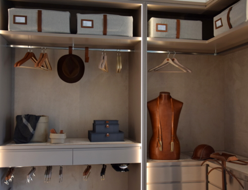 A custom made dressing room for an organised man