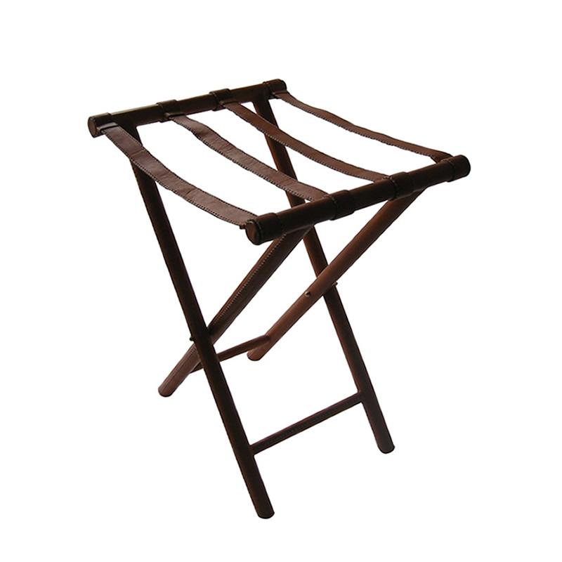 Portamaletas Alto hierro forrado en cuero marrón de Sol&Luna