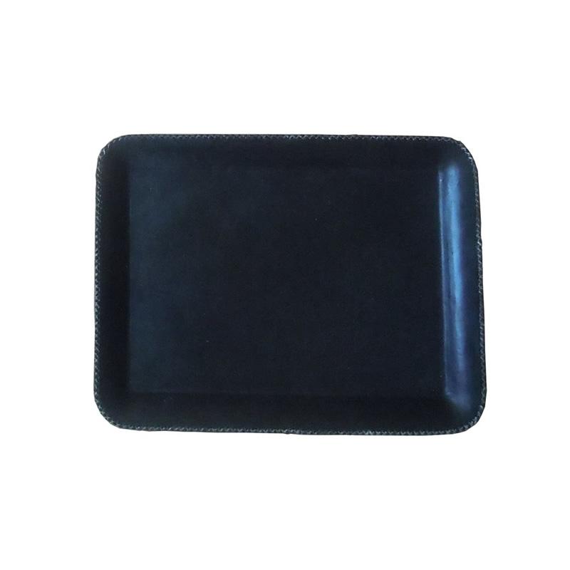 Bandeja Rectangular Grande PN904L forrado en cuero negro de Sol&Luna