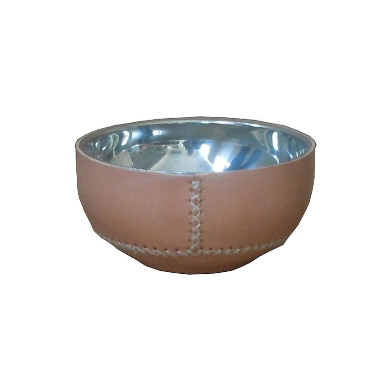 Bowl Metal forrado en cuero natural PN930 de Sol&Luna