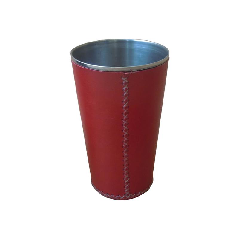 Vaso Grande forrado en cuerro rojo PN931 de Sol&Luna