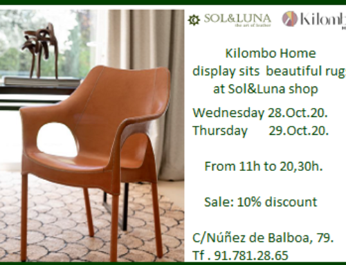 Kilombo Home displays its beautiful carpets at Sol&Luna Shop